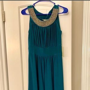 Teal formal dress